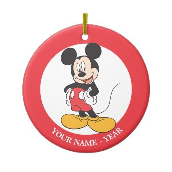 Mickey Mouse 1 Double-sided Ceramic Round Christmas Ornament ($17) ❤ liked on Polyvore featuring home, home decor, holiday decorations, mickey mouse home decor, ceramic christmas tree ornaments, round ornaments, round christmas ornaments and mickey mouse christmas tree ornaments