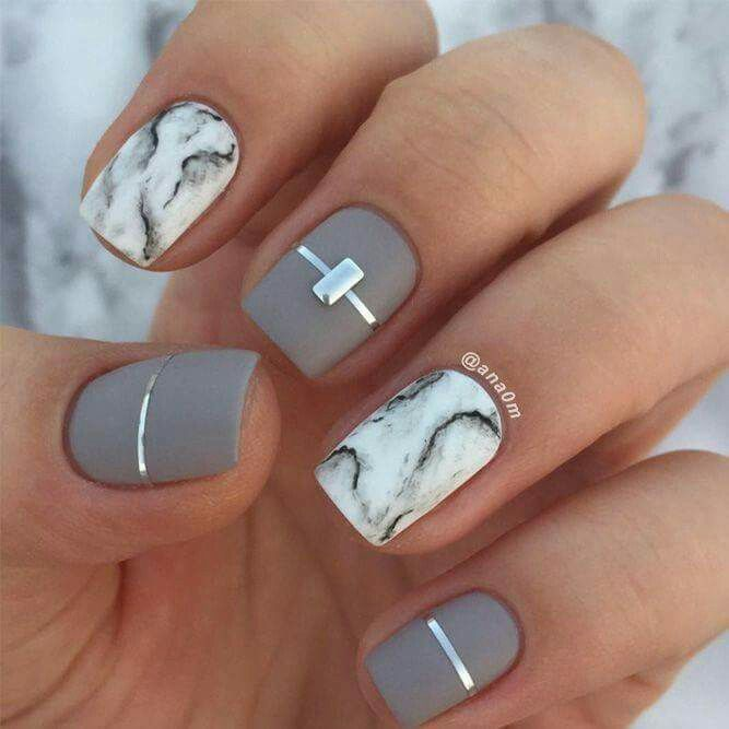 marble amp gray nail art nailed it u as art sticas u as