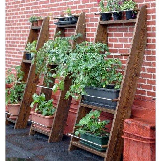 huerto o jardin vertical en madera