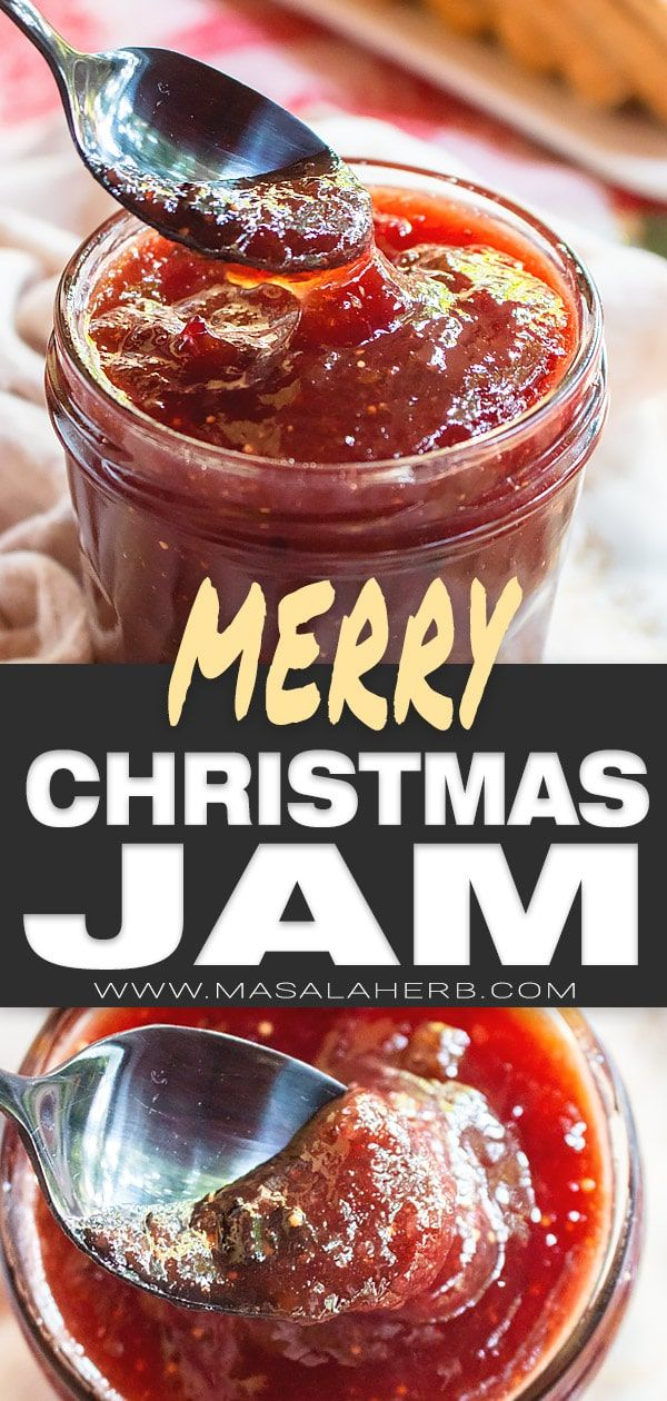 Merry Christmas Jam Recipe [+VIDEO] ???? MasalaHerb.com #homemadechristmasgifts