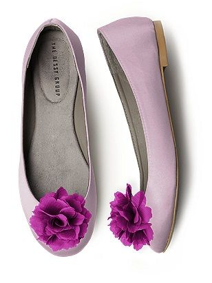Sweet treat for the feet. Bridesmaids will love these comfy flats! #shoes #purple #wedding themarriedapp.com hearted <3