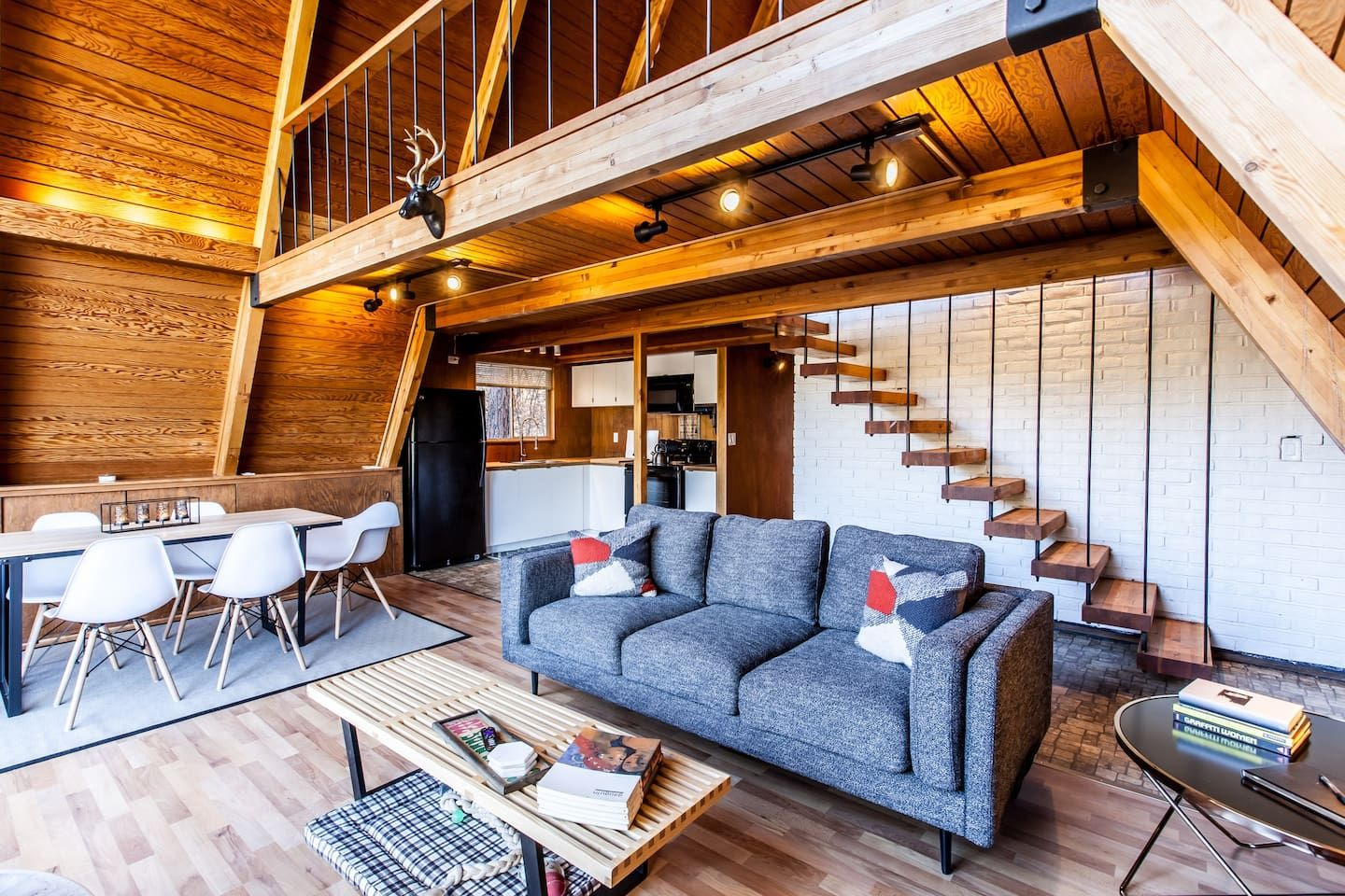 Mid century modern a frame loft up in the trees houses for rent in running springs california united states
