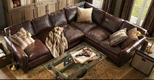 Dark Brown comfy leather sofa Great furnishings Pinterest