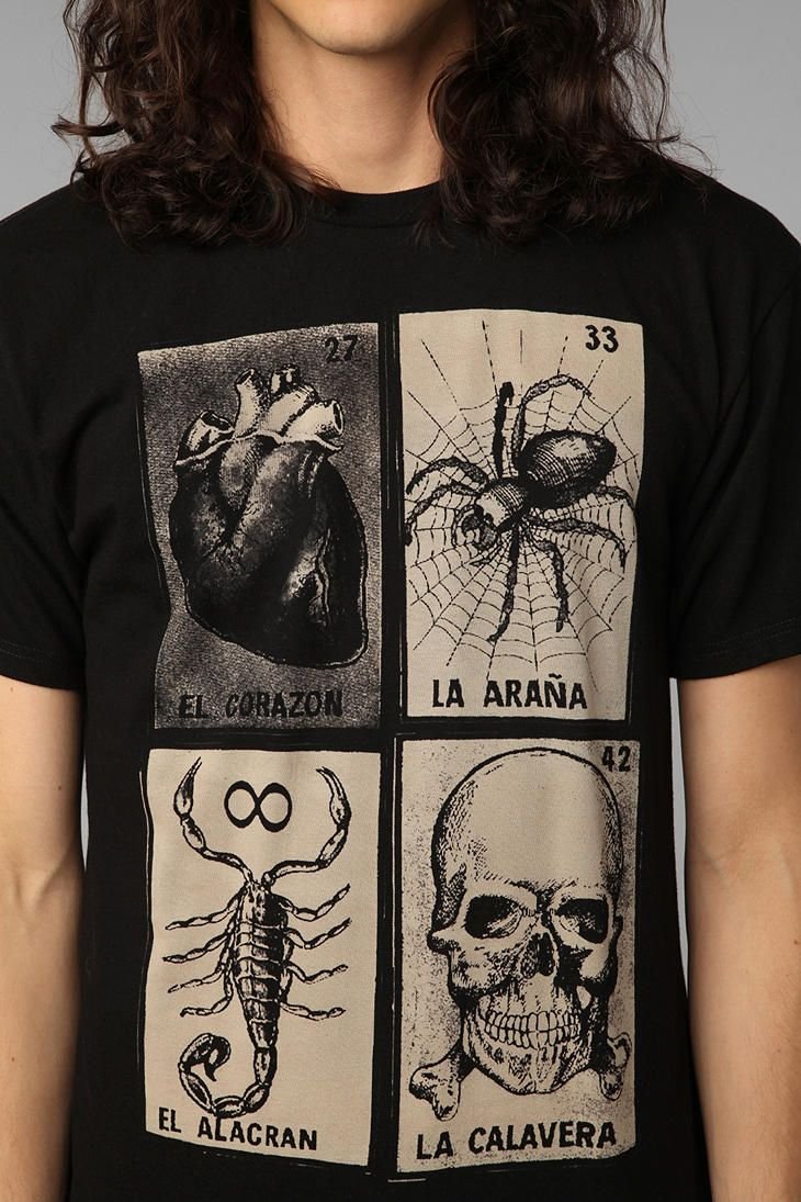 39dc46e193 Loteria Cards Tee | Clothes in 2019 | Mens tee shirts, Mens fashion ...