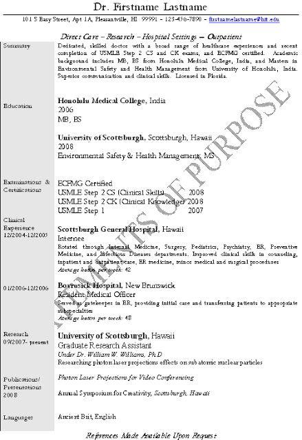 Good Resume For An Internist Best Resume Pleasantville Resume