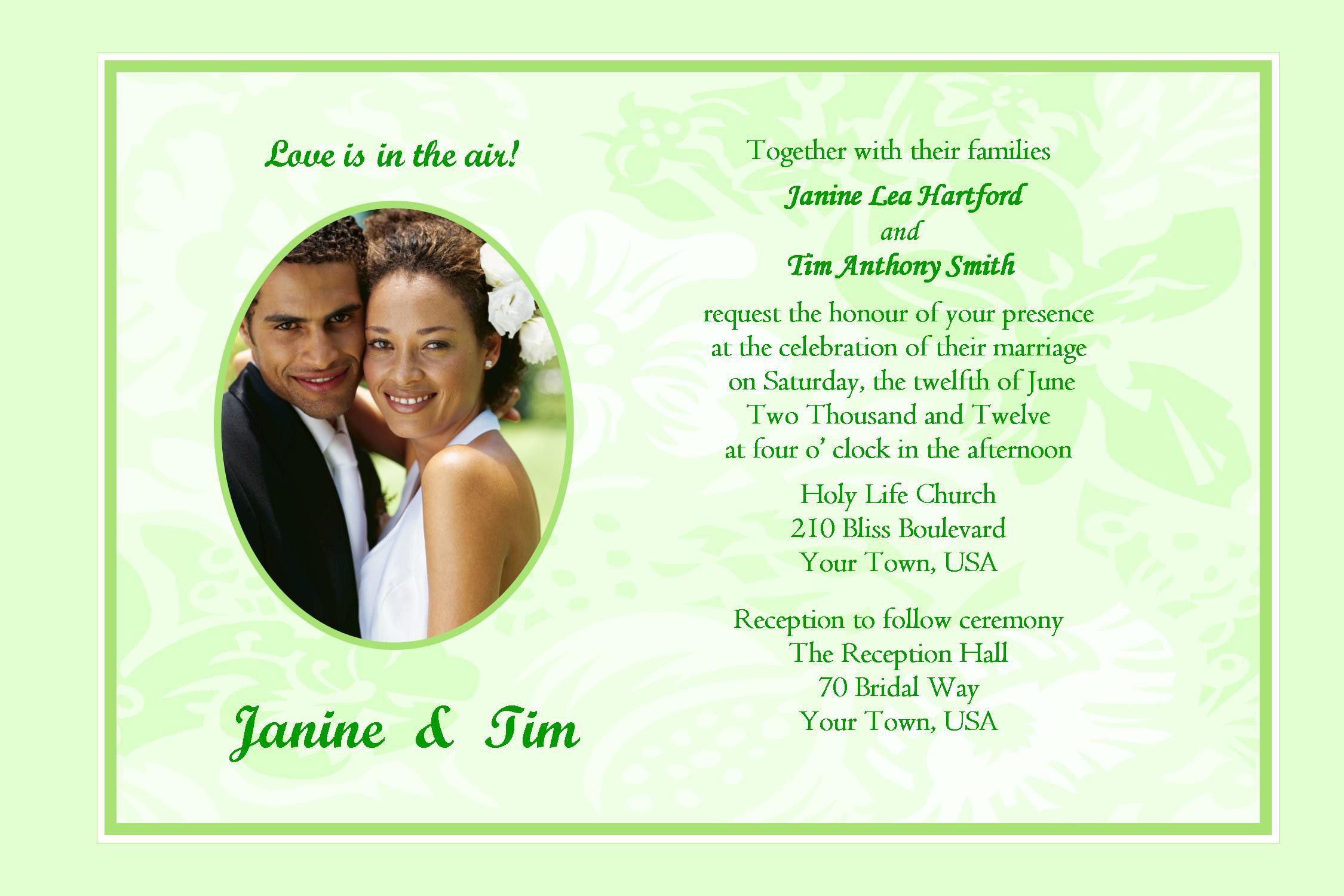 Stylish Wedding Card Invitation Sample Wedding Invitations Samples