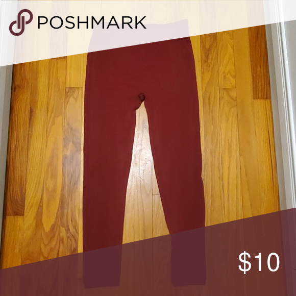 e574625afdc473 Cute burgundy leggings Burgenday leggins very cute. Make offer walmart  Pants Leggings
