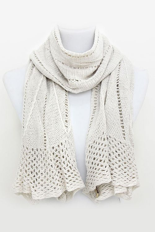 Knit Scarf in Latte | Charles Montgomery Burns | Pinterest | Tejido ...