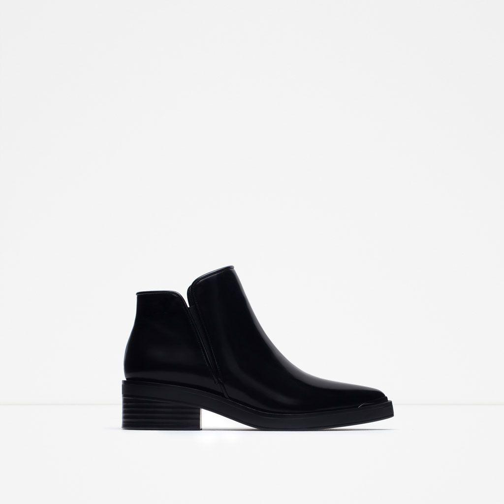 zara - femme - bottines plates pointues | shoes | pinterest