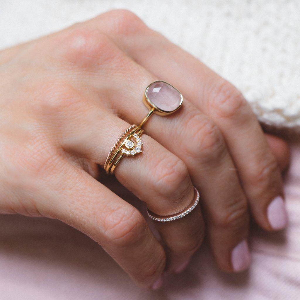 Aura Ring | Moonstone | Pinterest | Gemstone rings, Rose quartz and ...