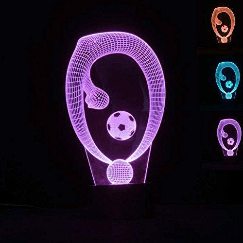Superniudb Football Shape 3d Night Light 7 Color Change Led Table Lamp Xmas Toy Gift Check Out The Night Light Color Changing Led