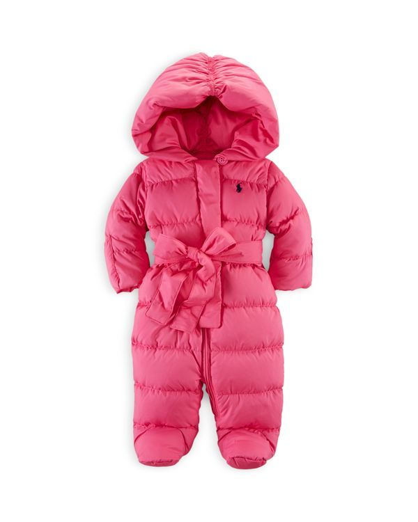 7163293ab7fe Ralph Lauren Infant Girls  Channel Quilted Snowsuit - Sizes 9-24 ...