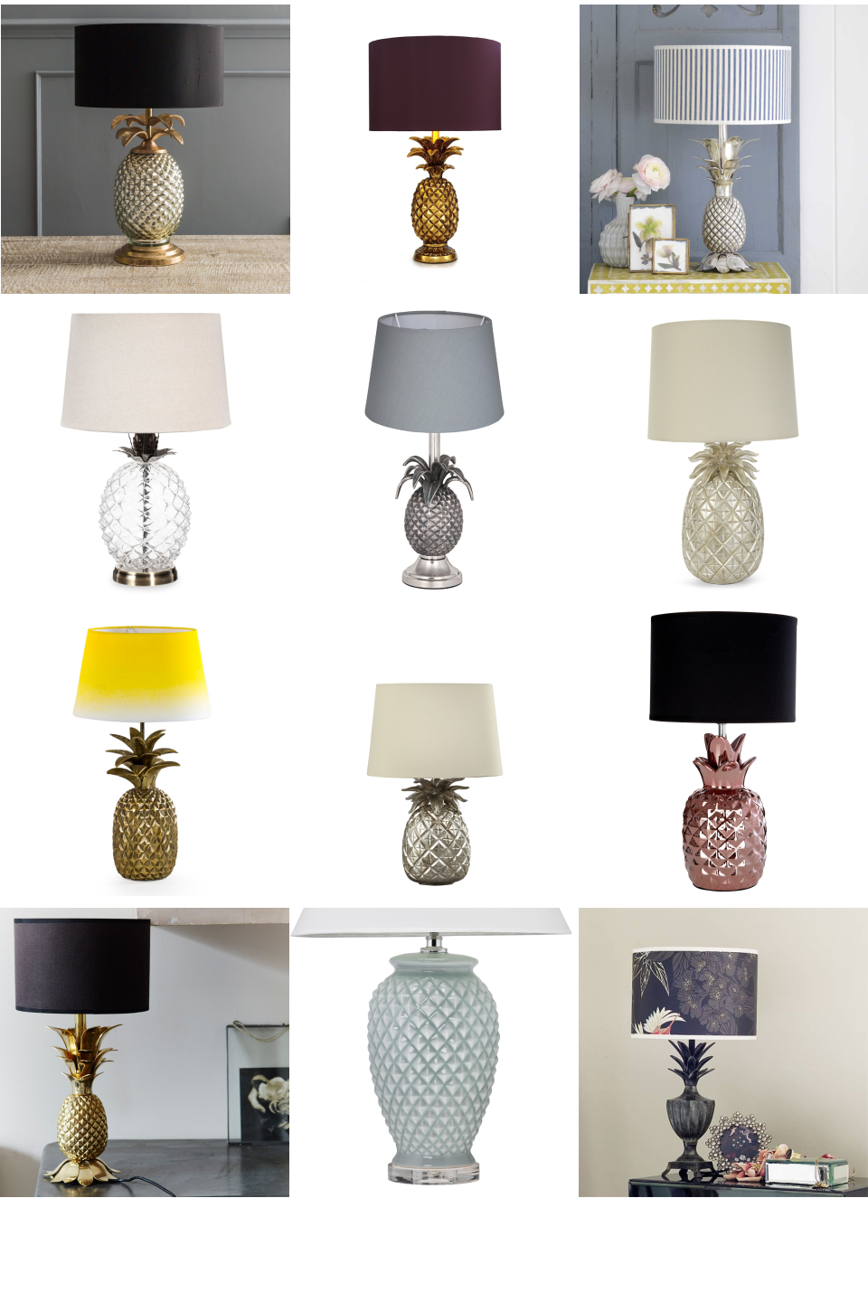 Pineapple Lamps Inspiration Board Light up your