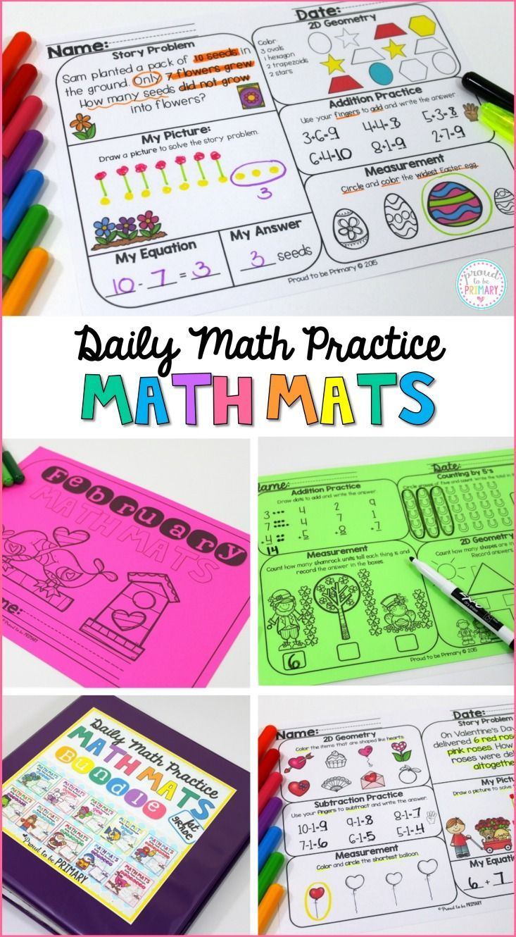 Math Review Worksheets for First Grade | Math activities, Maths and ...