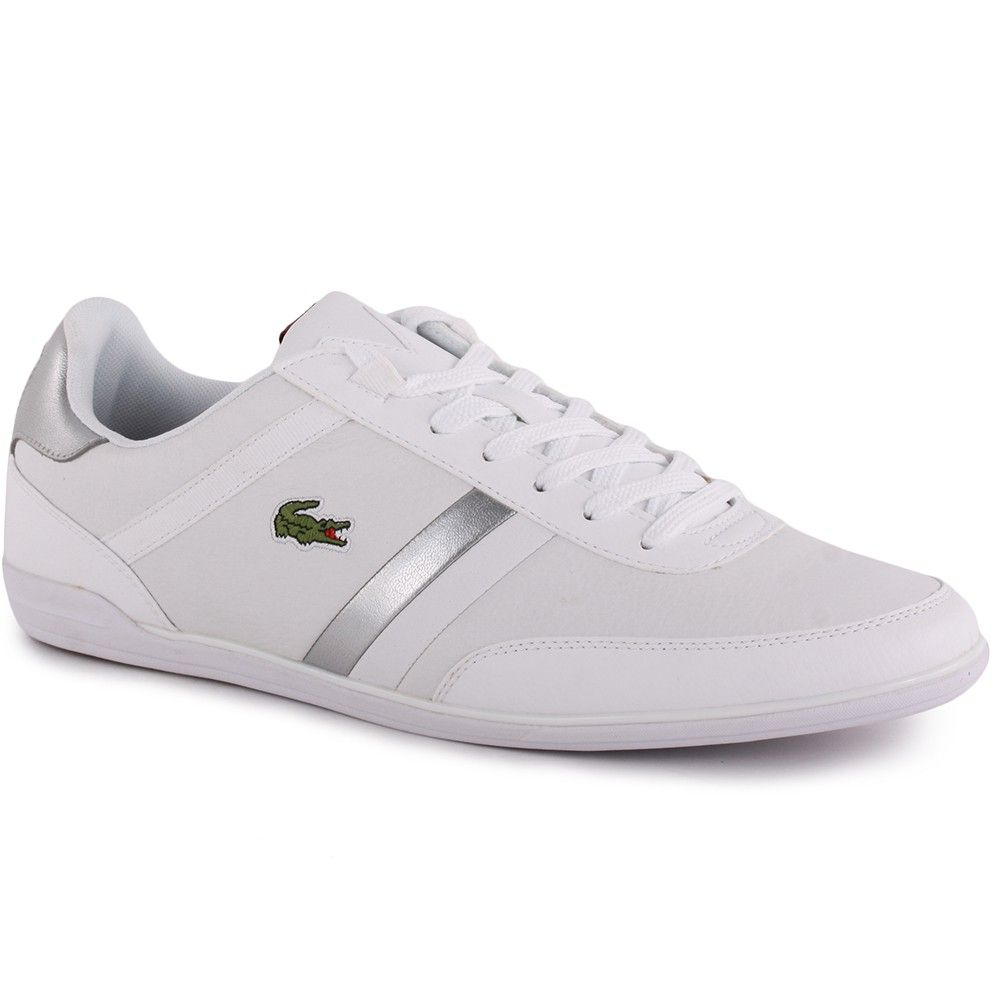 0d15fc796577b LACOSTE GIRON NAL TRAINERS FOR MEN IN WHITE WHITE - Footwear - MelMorgan  Sports
