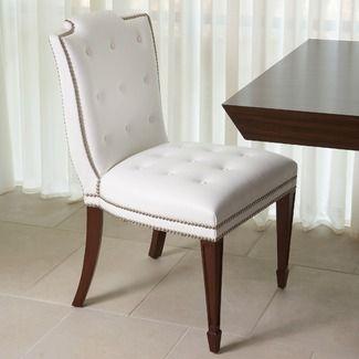 Global Views Atlanta Dining Chair in White | Fresh-Air Dining Room ...