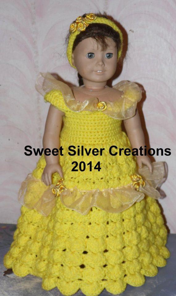 18 inch American Girl Crochet Pattern - Belle | Puppen, Disney und ...