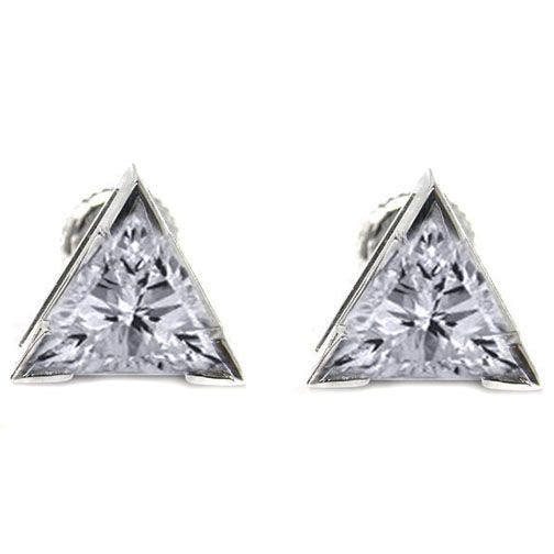 earrings d drop cut absolute silver cubic convertible zirconia trillion sterling products