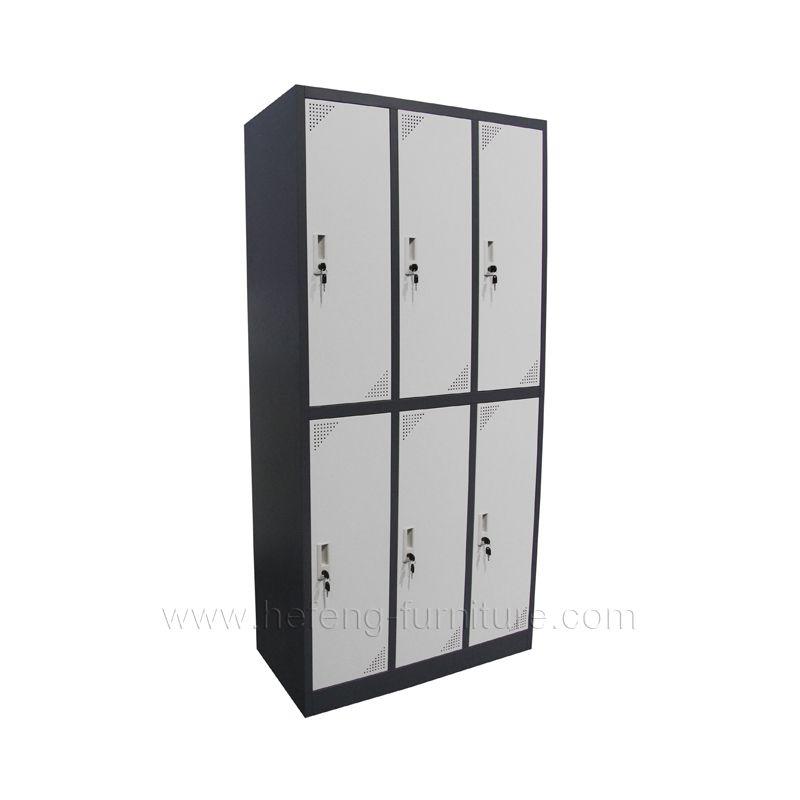 Large Metal Storage Cabinets 6 Tier Personal Swimming Pool Locker