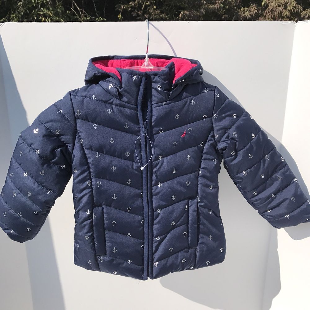 Nautica Girl S 4t Quilted Puffer Winter Jacket Navy Blue With Pink Zip Hood Nautica Dressyeverydayholiday Winter Jackets Jackets Kids Outfits [ 1000 x 1000 Pixel ]