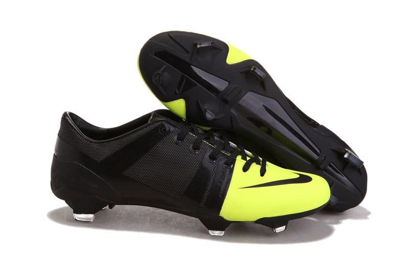 san francisco ecc54 ab688 Chaussures de foot nike Launch GS Noir Vert pas cher