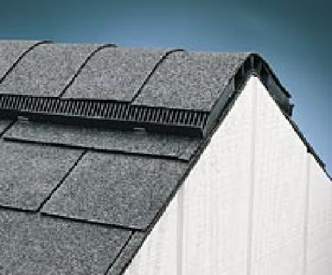 What Does A Ridge Vent On A Roof Look Like Had A Capped Ridge