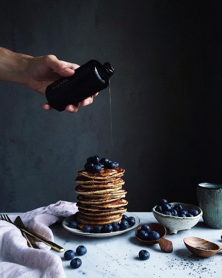 ILĀ | Wood Fired Maple syrup from our new line paired with pancakes and blueberries / Linda Lomelino