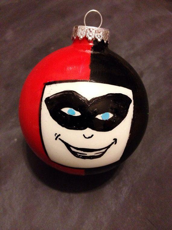 Joker Christmas Ornament.Harley Quinn Christmas Ornament Batman Christmas Joker
