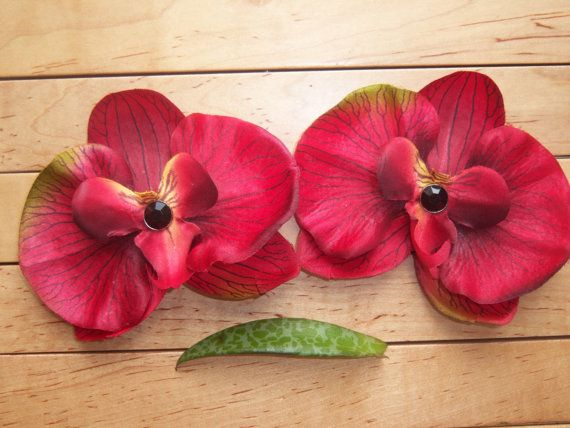 Crimson Red Orchid Pasties/ Nipple covers with by PacifiedPotter, $14.99