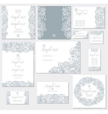 Template For Wedding Cards Vector On Vectorstock  Wedding