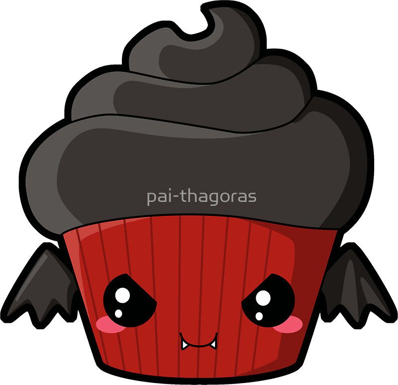 'Spooky Cupcake - Vampire' Sticker by pai-thagoras