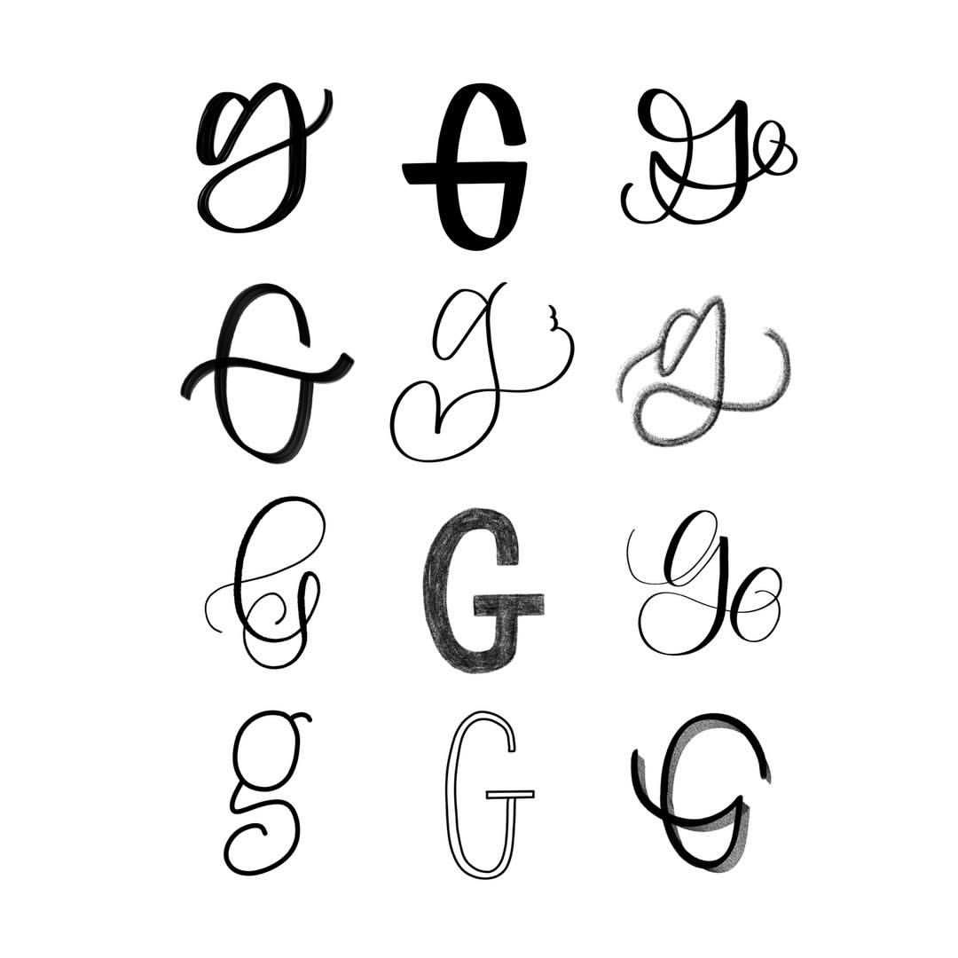 12 Ways To Letter G Hand Lettering Modern Script