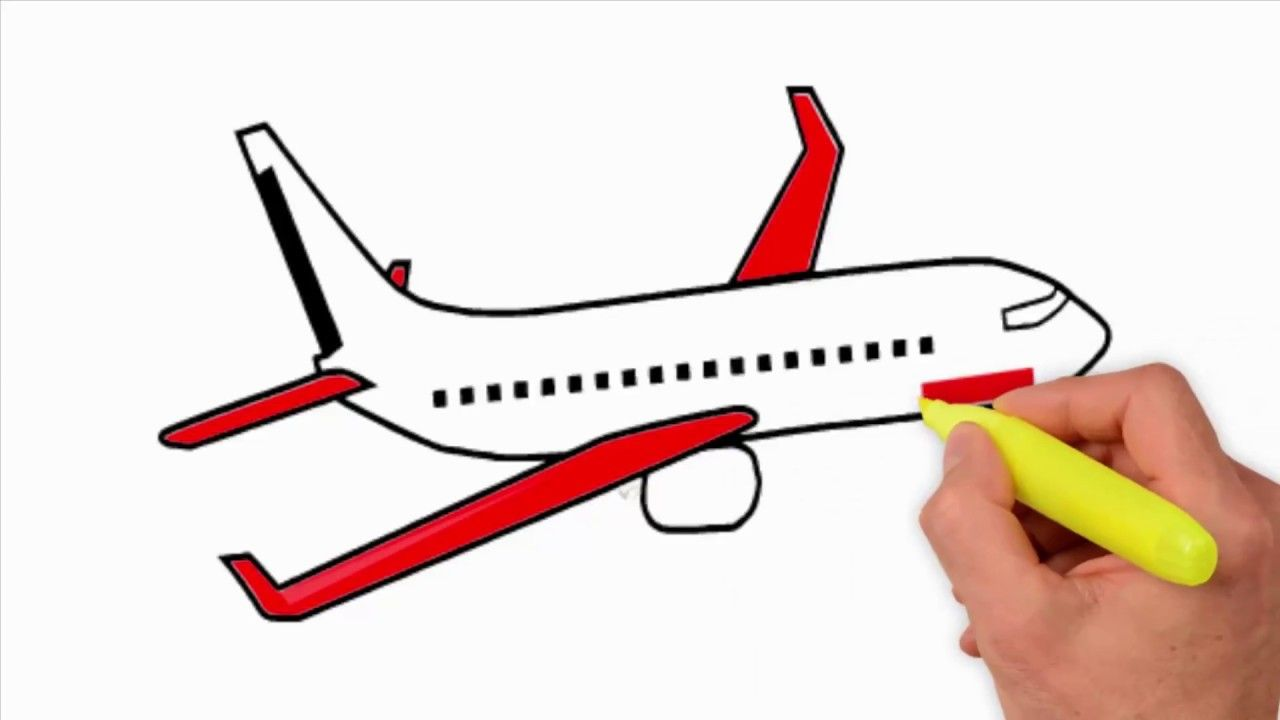Aeroplane Drawing For Kid Videography Drawing For Kids Doodle Art Drawing Drawings