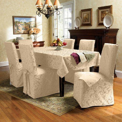 Brylanehome Chair Covers Hickory Sleeper Sofas Pin By Belinda Harrmann On Table Setting Pinterest Dining Room Genoa Jacquard Set Of 2 Http Www
