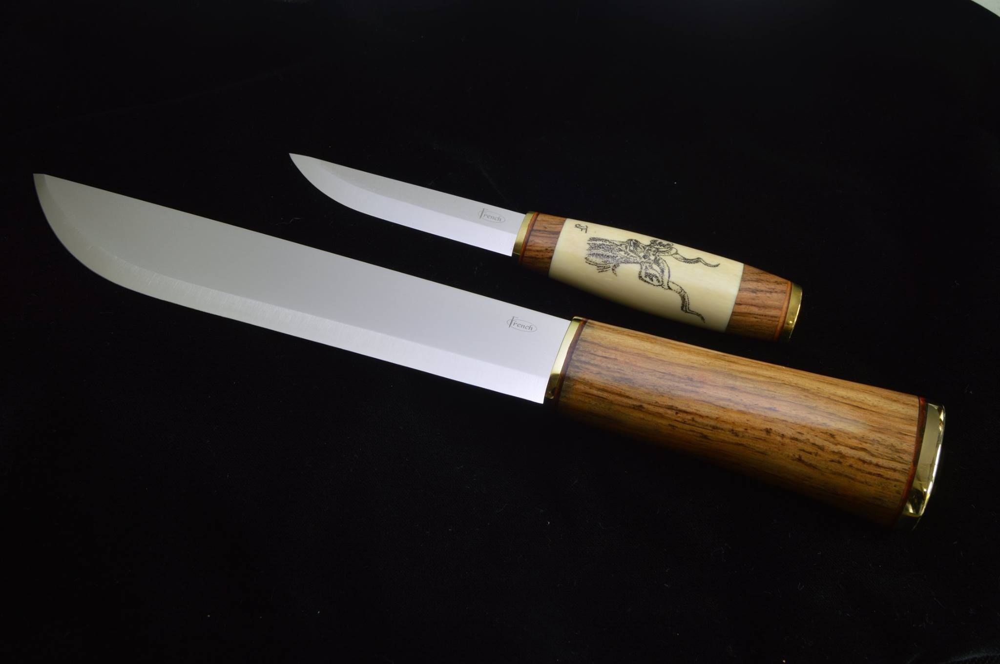 A Finnish Puukko with a African flare    and then the Leuku