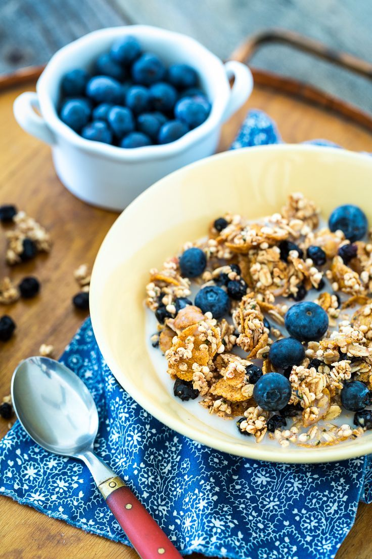 Lemon Blueberry Granola #vegan #glutenfree | Keepin' It Kind