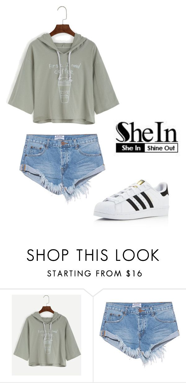 """..."" by melika-h ❤ liked on Polyvore featuring One Teaspoon and adidas"