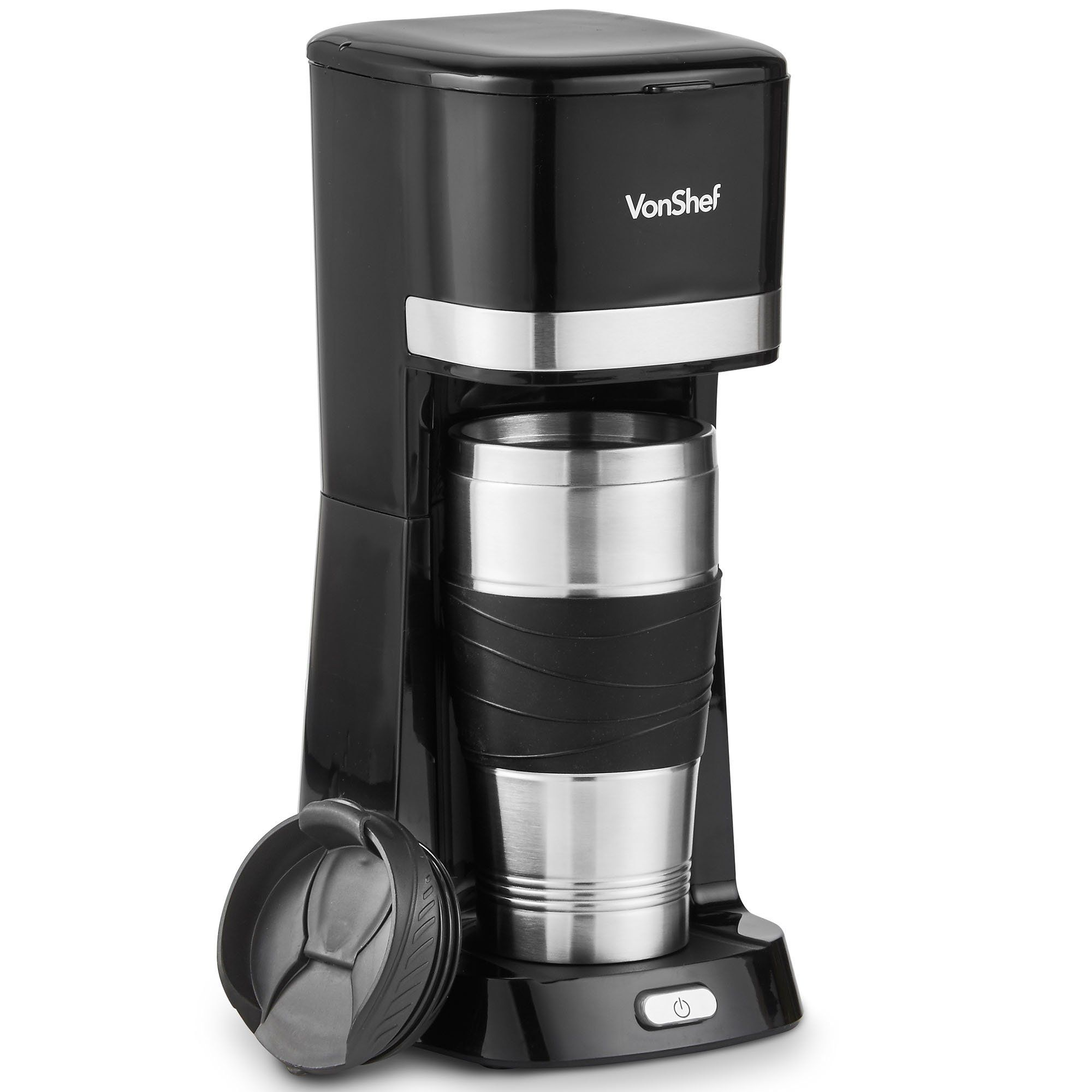 Vonshef Single Serve Coffee Maker 650w One Cup Personal Filter Coffee Machine With 14 Ounc Single Serve Coffee Makers Filter Coffee Machine Single Coffee Maker