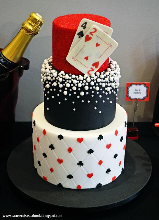 Outro estilo de bolo pra festa cassino ou las vegas festa las
