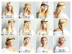12 Days 12 Hairstyles 1 HippieLove Headband #hippielove #hairstlye