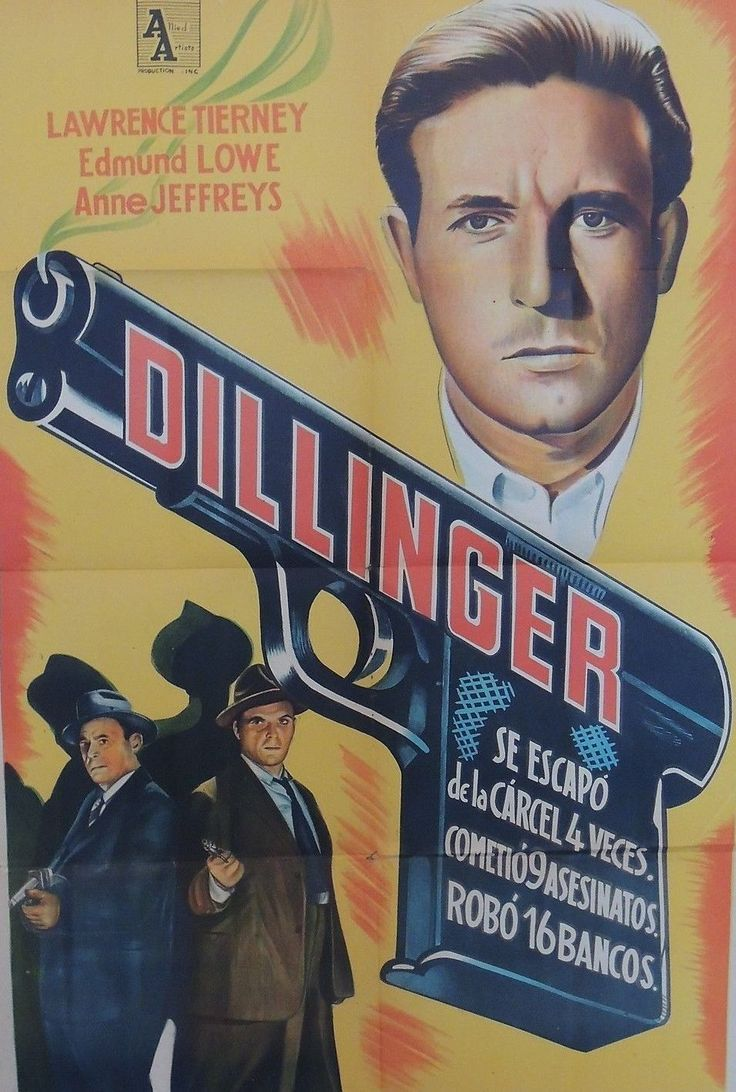 Dillinger, poster from Argentina, Lawrence Tierney