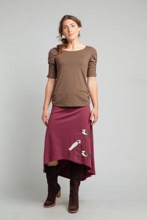 Winter Bird Flutter Skirt