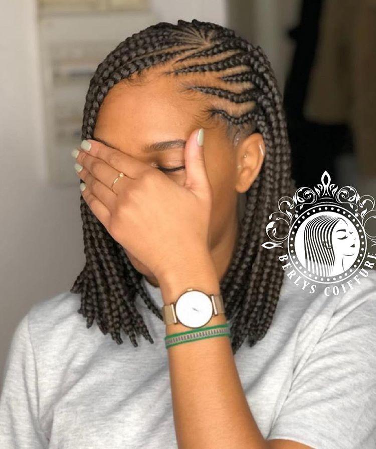 Berlys Coiffure On Instagram Cliente Satisfaite Fulanie Braids Carre 3 Paquets De Meche Model De Coiffure Africaine Coiffure Coiffures Senegalaises