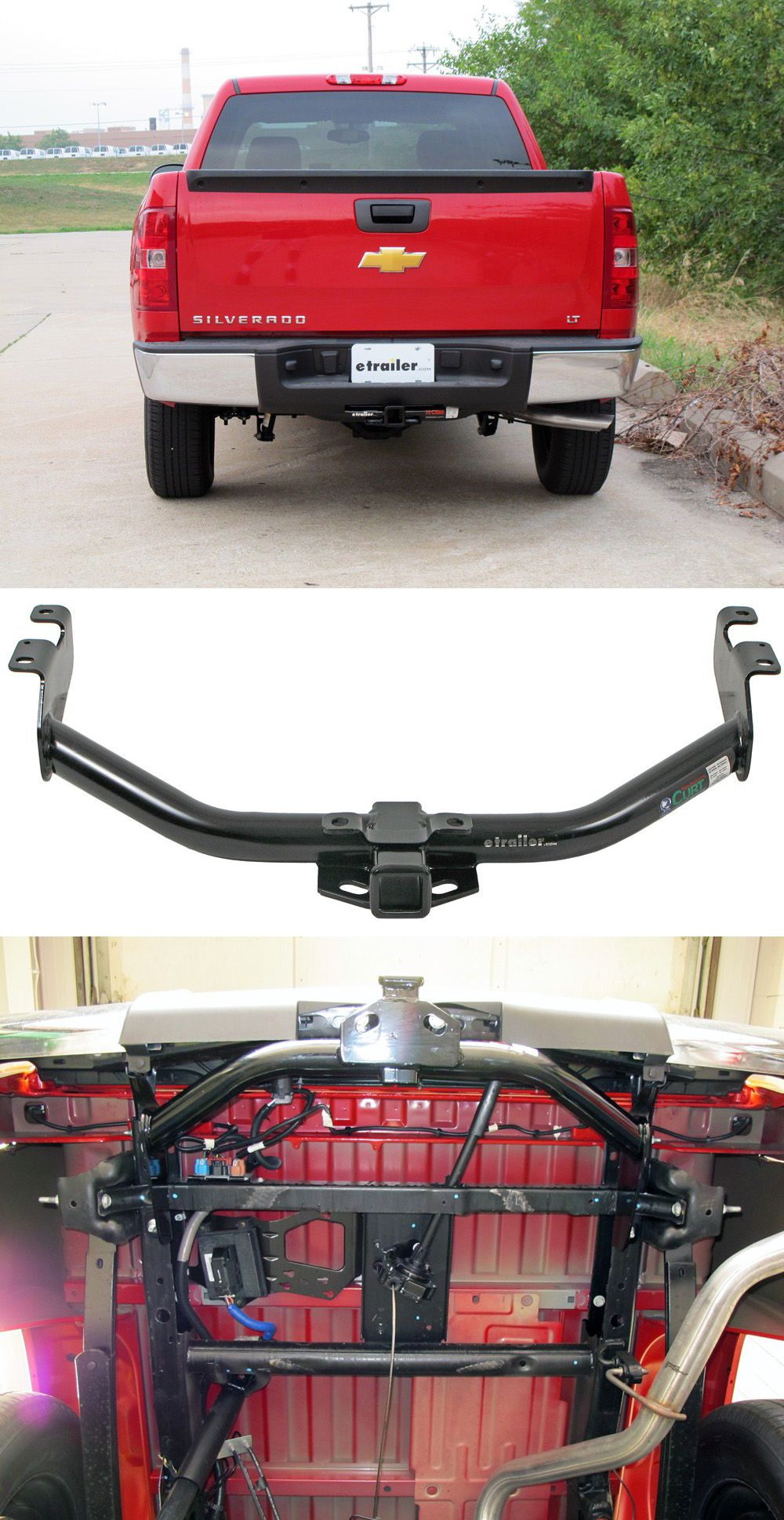Curt Trailer Hitch Receiver Custom Fit Class Iii 2 Truck T Connector Wiring Kit This Fully Welded Bolts Onto Your Chevy Silverados Frame With No Welding Required Designed For The Silverado