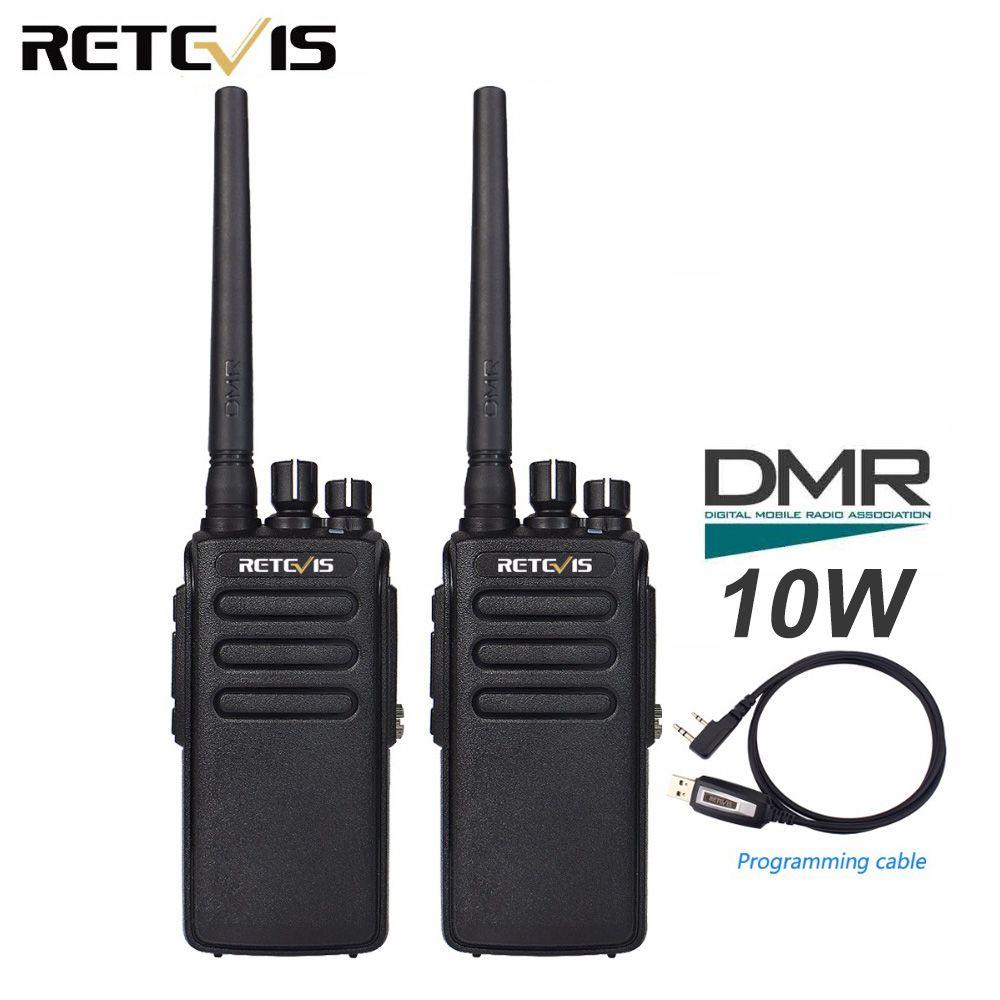 2pcs Retevis RT81 10W DMR Digital Radio IP67 Waterproof