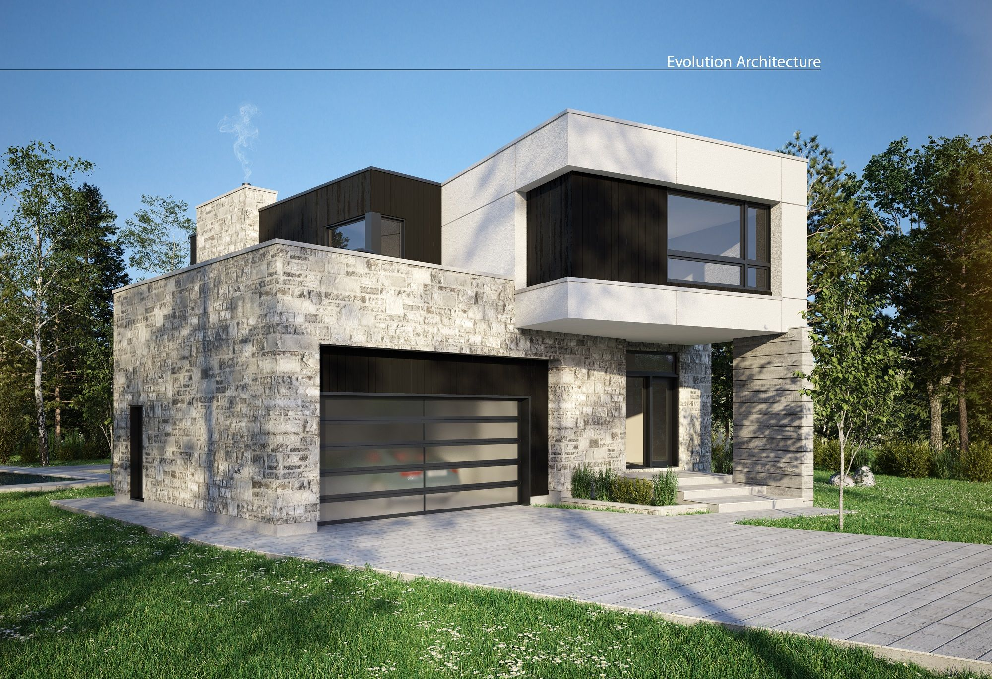 Architecturemaison contemporaine cration exclusive E951 moderne designconcept plan