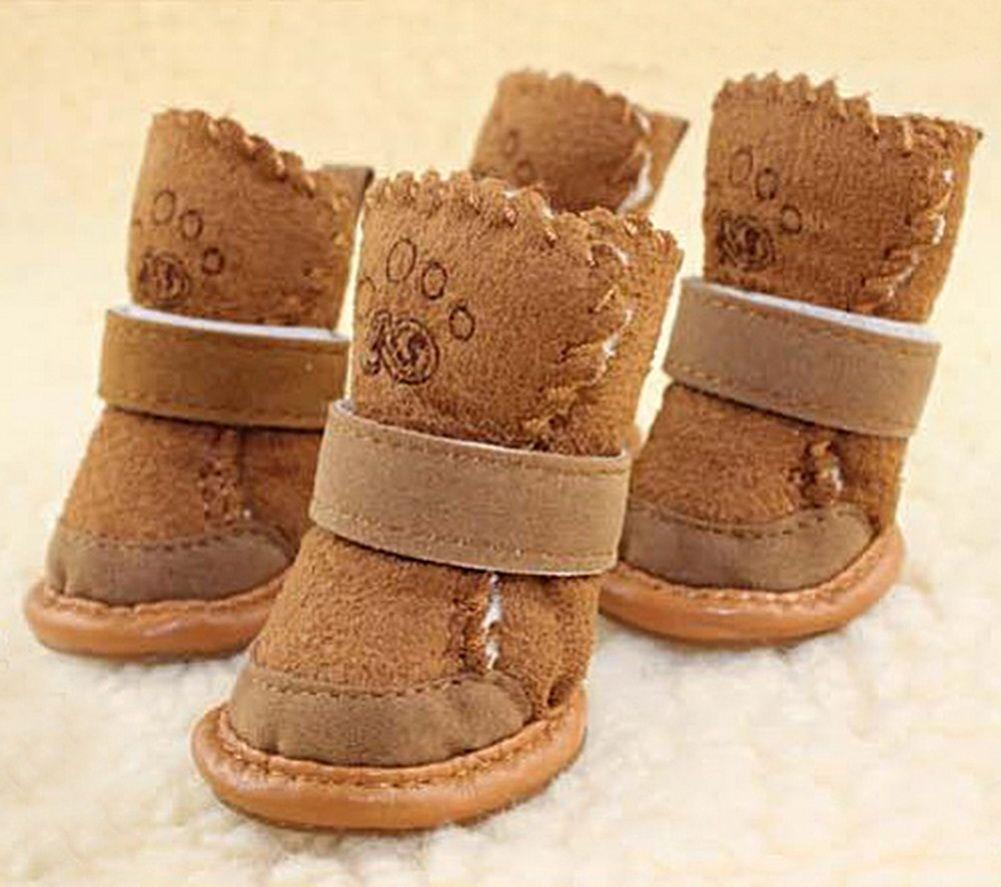 Opentip.com: GOGO Cashmere Dog Pugz Shoes, For Dogs S Khaki, Dogs Costume