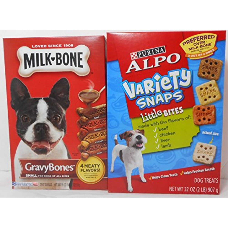 Bundle Milk Bone 19 Oz Gravy Bones 4 Meaty Flavors Small For Dogs