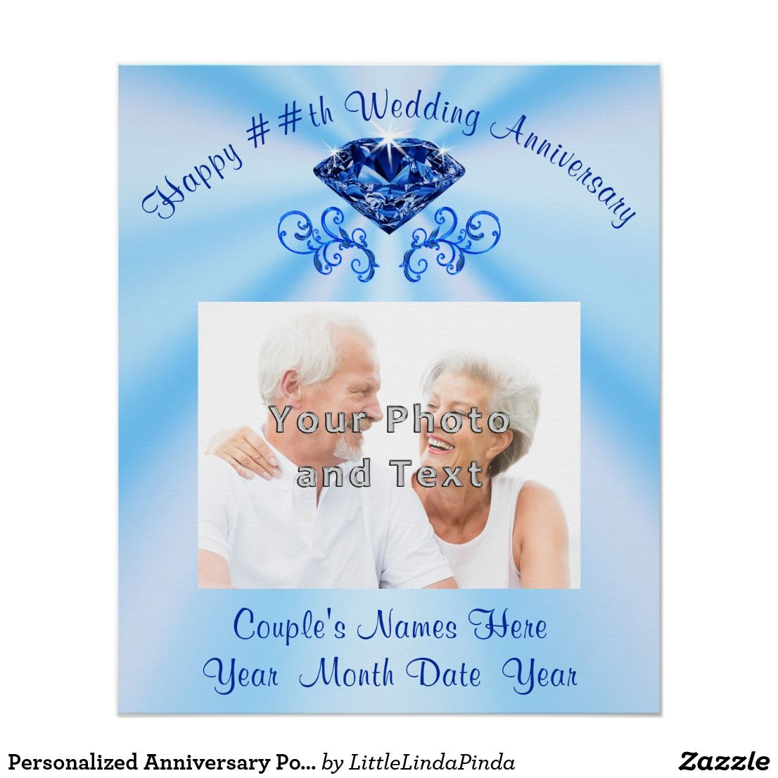 Personalized Anniversary Poster, Photo and Text Poster
