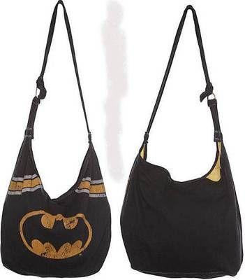 new DC COMICS BATMAN logo BLACK super hero HOBO purse punk BAG + torrid JEWEL.....Thi sscreams NIKKI